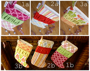 Image of Christmas Stocking {choose your print}, 4 stockings